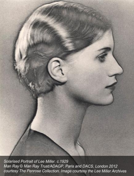 1930 Theme: Women - Publication profile portrait woman head solarization