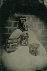 A small collection of my vintage analogue cameras which has grown since this was taken, all very special.